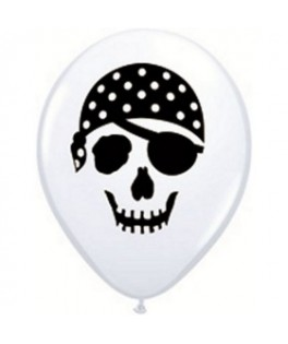 ballons latex pirate tete de mort