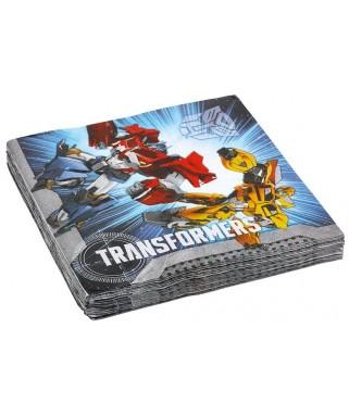 serviettes anniversaire Transformers