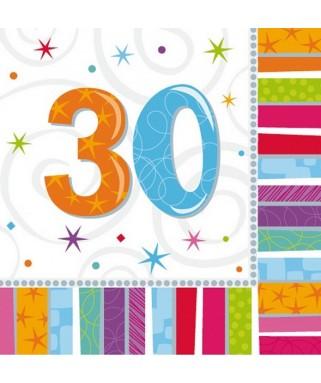 serviettes anniversaire 30 ans