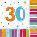 Serviettes Anniversaire 30 ans - 33 cm  x16