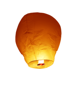 lanterne volante balloon orange