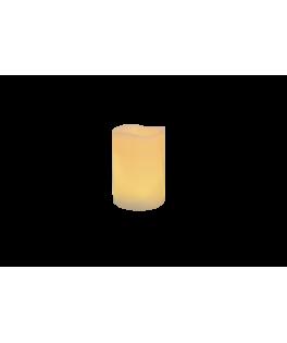 bougie pilier LED vagues ivoire