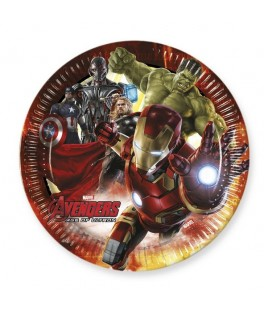 Assiettes Avengers Age of Ultron  x8