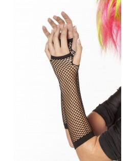 gants dentelle noir