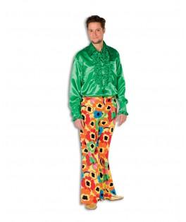 deguisement pantalon hippie fleurs