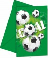 Invitations anniversaire Football  x6