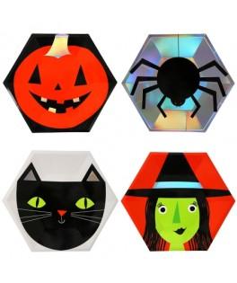 assiettes personnages halloween meri meri