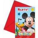 Invitations anniversaire Mickey  x6