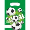Sacs cadeaux Football  x6