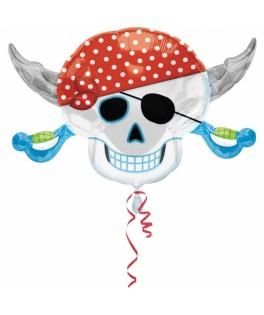 ballon pirate tete de mort