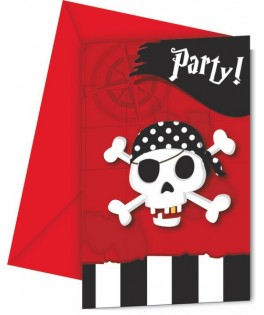 invitations anniversaire pirate