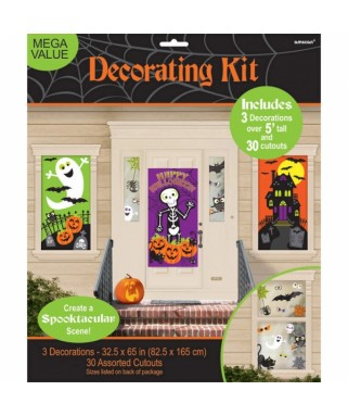 Kit de d coration murale halloween happy fiesta lyon for Decoration murale halloween