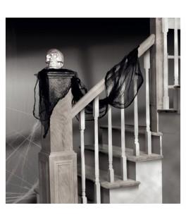 decoration drape noir halloween