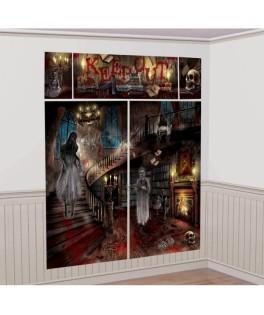 kit de decoration murale maison hantee halloween