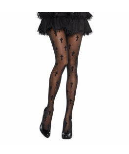 collant noir crucifix halloween