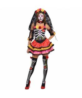deguisement robe dia de los muertos halloween