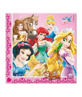 Serviettes Princesses & Animaux  x20