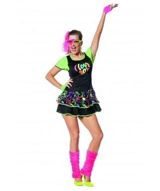 déguisement femme robe années 80 fluo - happy fiesta lyon