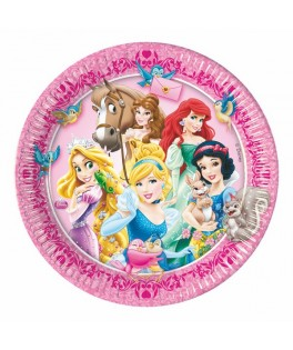 Assiettes Princesses & Animaux   x8