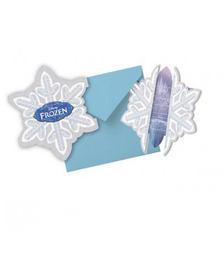 Invitations anniversaire La Reine des Neiges Ice Skating  x6