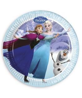 assiettes la reine des neiges