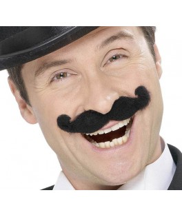 moustaches music-hall noires auto adhesives