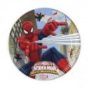 Assiettes Spiderman Web Warrior  x8