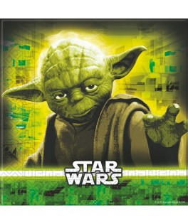Serviettes  Star Wars The Force Awakens Yoda  (33x33 cm)  x20