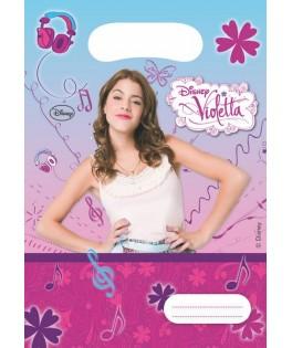 Sacs cadeaux Violetta x6