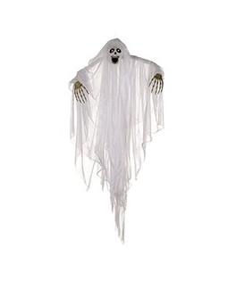squelette fantome satin blanc yeux lumineux