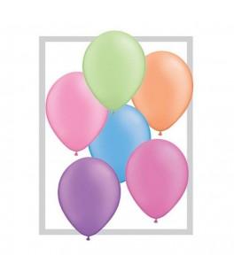 25 ballons fluo