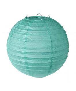 lanterne papier vert menthe 20 cm