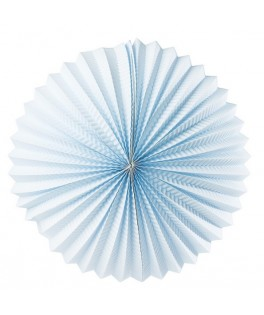 lampion rond bleu pastel
