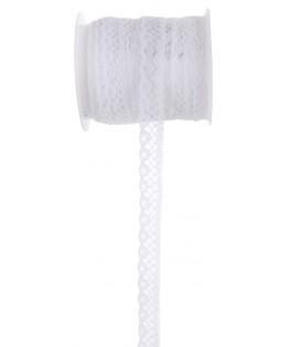 Ruban dentelle blanche - 10 mm x 5 m