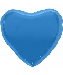 ballon metallise coeur bleu turquoise