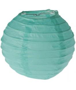 lanterne papier vert menthe 10 cm