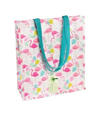 sac cabas shopping flamant rose