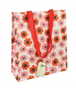 sac cabas shopping poppy vintage