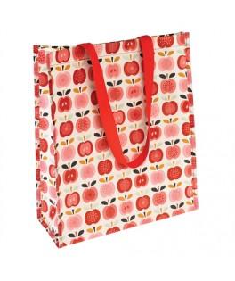 sac cabas shopping pommes vintage