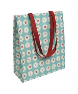 sac cabas shopping bleu vintage