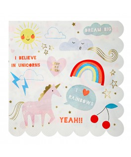 Serviettes Licorne Unicorn