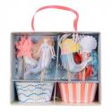 Kit de 24 moules pour cupcakes Sirène
