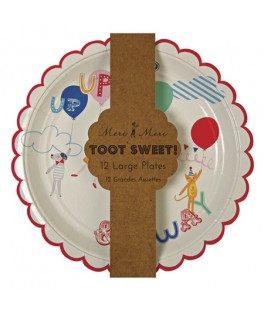 Assiettes rondes Sweet Children Toot Sweet (23 cm) x12