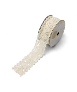 Ruban dentelle ivoire