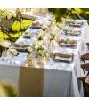 chemin de table lin champetre