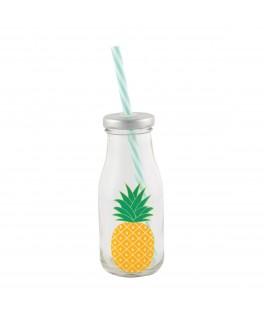 Mini bouteille de lait Tropical Ananas