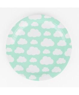 Assiettes nuages - 23 cm