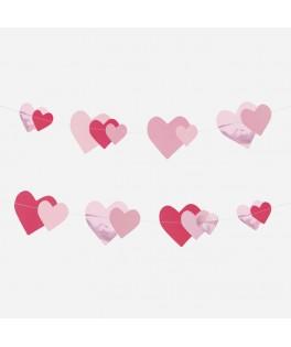 Guirlande en papier coeurs roses My Little Day