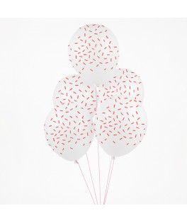 ballons vermicelles rouges