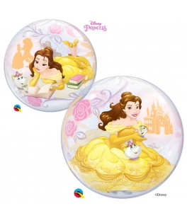 Ballon single Bubble  Princesse Belle